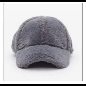 New Era Faux Fur Gray Baseball Cap